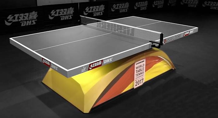 DHS Table Tennis Table With Black Playing Surface