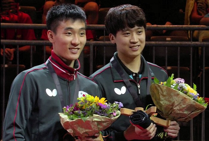 Lee Sangsu and Jeoung Youngsik, Mens Doubles Bronze Medallists 2017