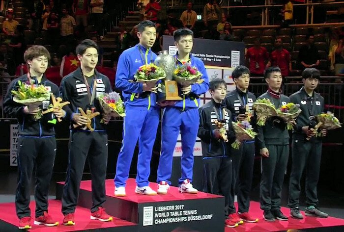 2017 World Championships - Mens Doubles Medallists