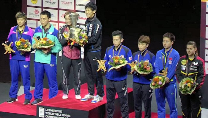 2017 World Championships - Mixed Doubles Medallists