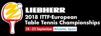 Logo for European Table Tennis Championships 2018