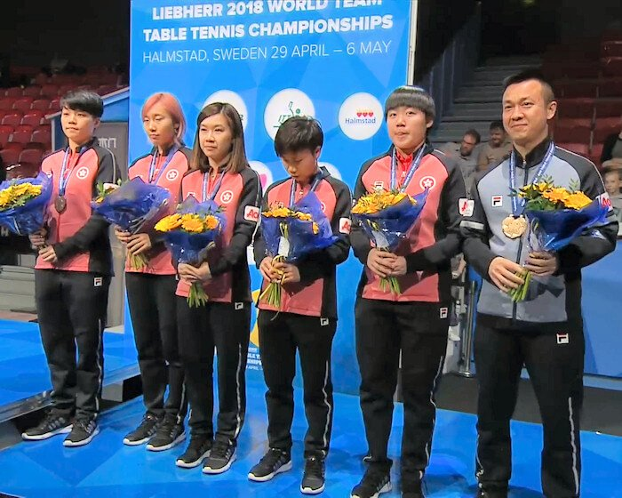 2018 World Team Championships - Hong Kong China - Bronze Medallists