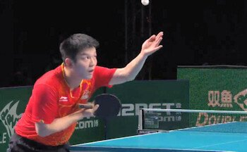 Advanced table tennis serve