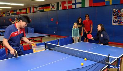 Coaching at Allen & Sons Table Tennis Club