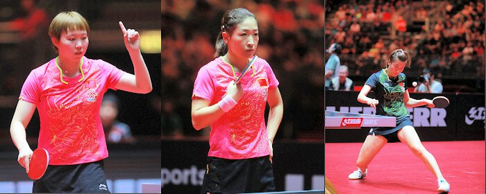 Chinese table tennis players - top 3 women