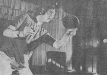 Tony Clayton taking part in Ping Pong Diplomacy in 1971