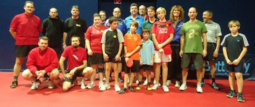 Table tennis club members