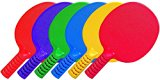 Coast Athletic 6-Pieces Unbreakable Table Tennis Paddles (Blue / Green / Red / Yellow / Purple / Orange)