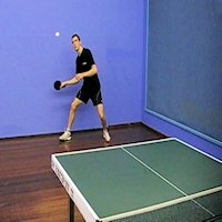 Table Tennis Forehand Lob
