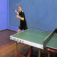 Table Tennis Forehand Smash