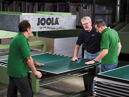 Joola table tennis tables in production