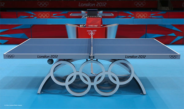 Table tennis table used at 2012 Olympic Games in London