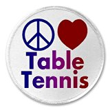 Peace Love Table Tennis - 3inch Sew / Iron On Patch