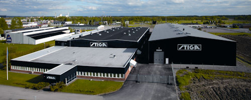 Stiga table tennis buildings in Eskilstuna, Sweden
