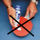 Table tennis bat cleaners - banned