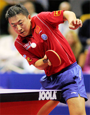 Table tennis rule - the volley