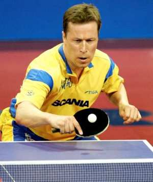 Table tennis stroke - backhand push