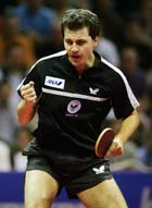 Table tennis player Timo Boll - Euro Top 12 Winner