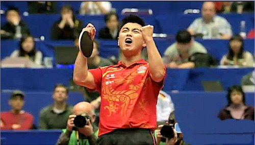 China - World Champions 2012 - Wang Hao celebrates