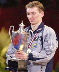 2003 World Table Tennis Champion, Werner Schlager