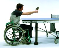 Wheelchair table tennis table