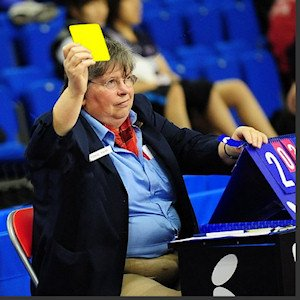 Yellow cards and red cards in table tennis